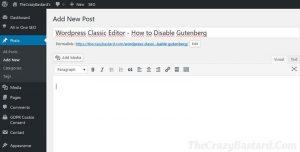 Classic Editor Plugin